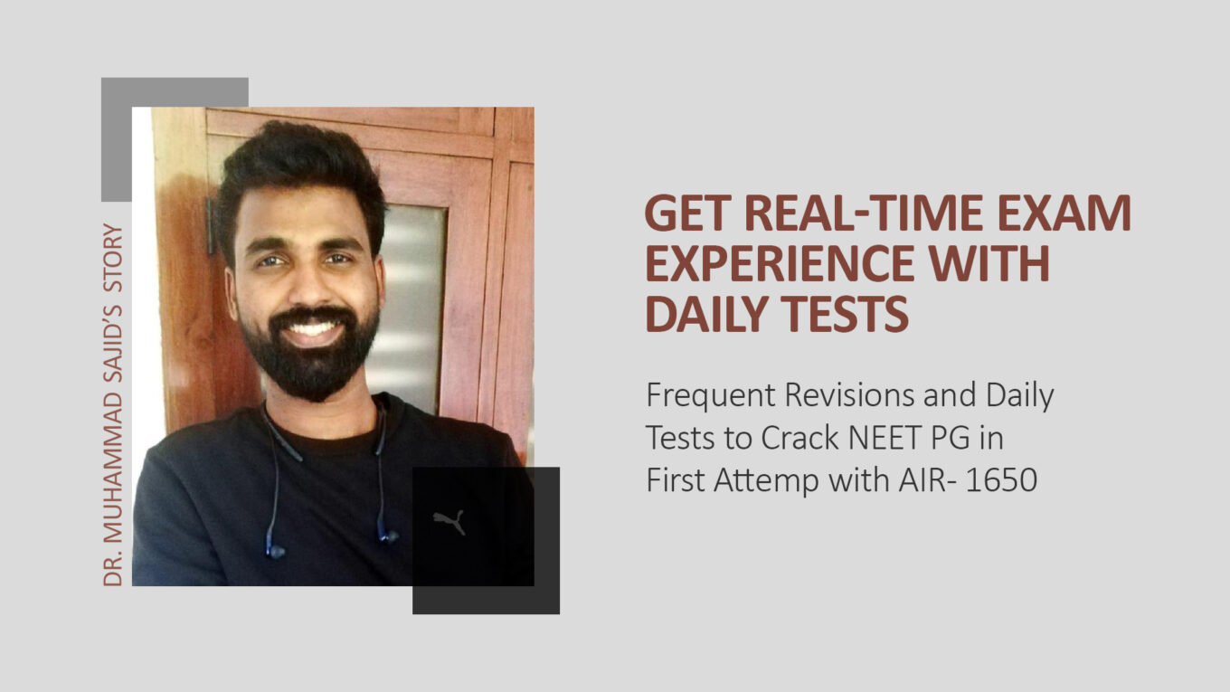 How NEET PG Topper cracked PG medical entrance exam with Pre-PG Prep