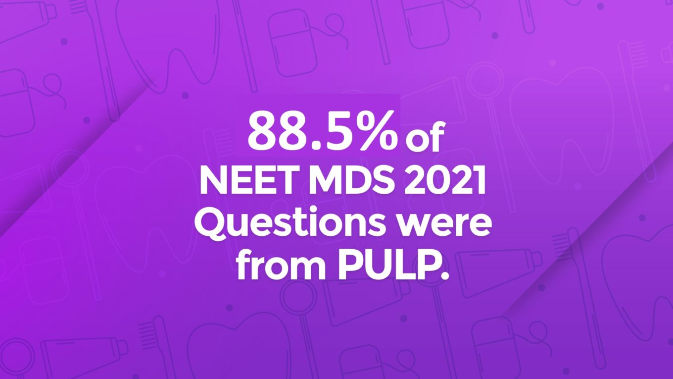 NEET MDS 2021 Strike rate by PULP